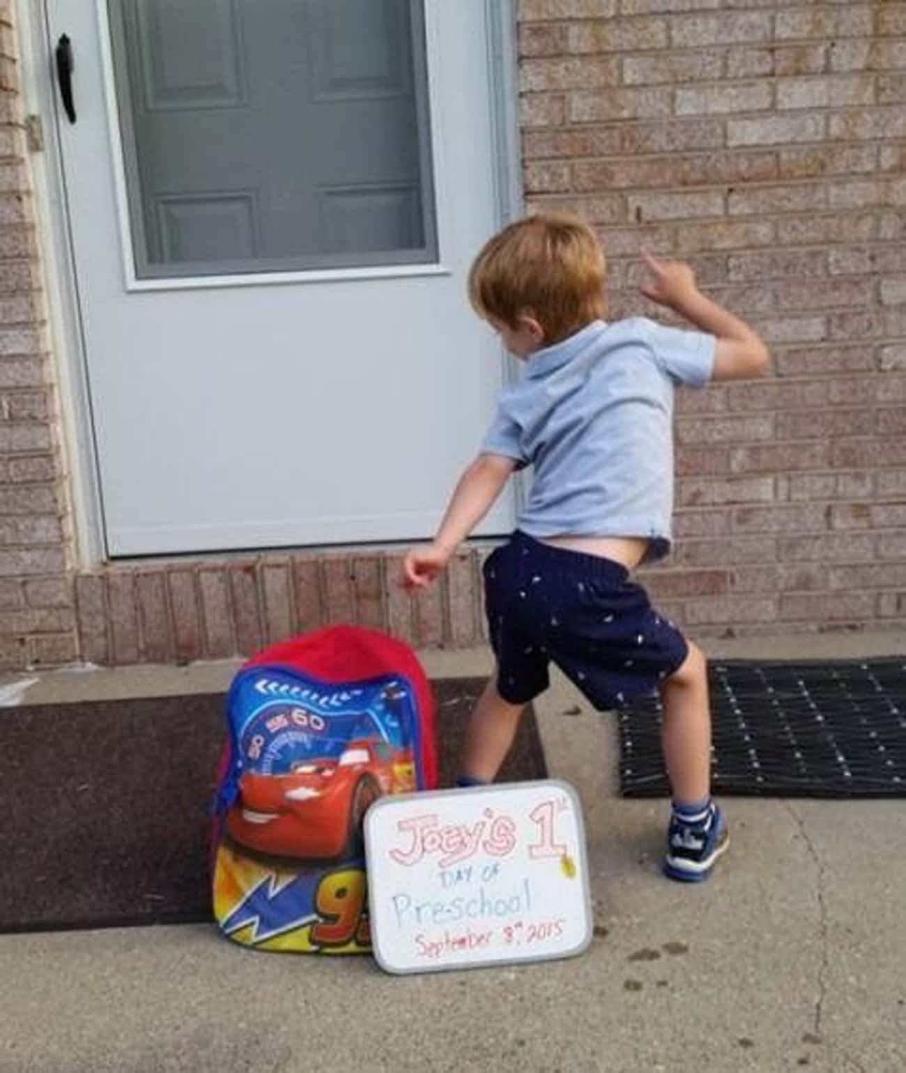 The Party Don't Start &#39 is listed (or ranked) 3 on the list 25 Funny First Day of School Pictures