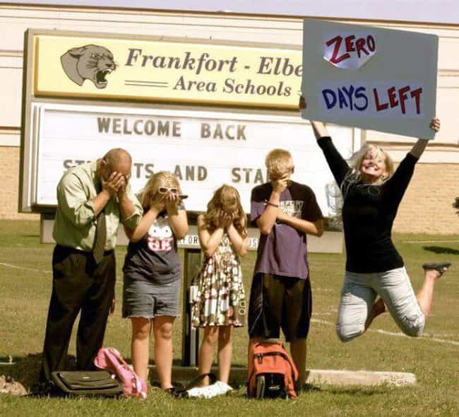 It's the Final Countdown is listed (or ranked) 4 on the list 25 Funny First Day of School Pictures
