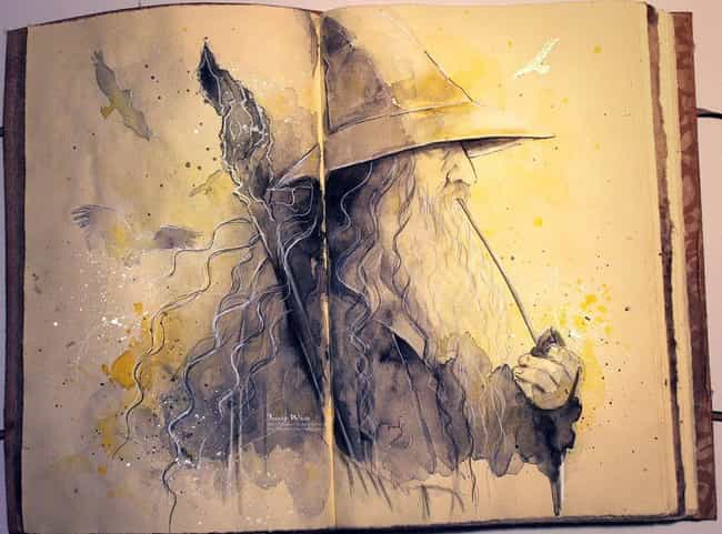 The Old Wizard is listed (or ranked) 1 on the list The Best Lord of the Rings and The Hobbit Fan Art