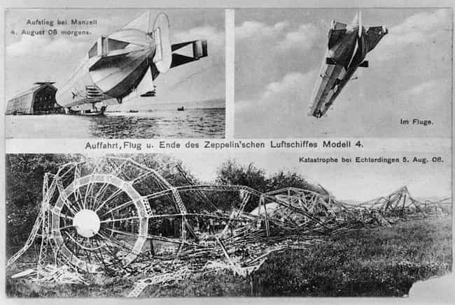 The Experimental Zeppelin LZ 4... is listed (or ranked) 3 on the list The 17 Craziest, Most Tragic Blimp Disasters in History