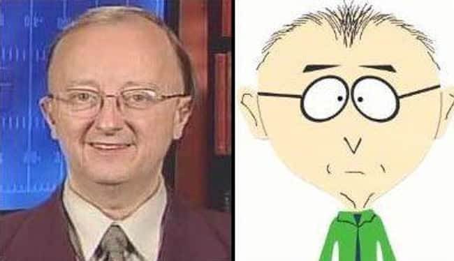 John Clayton and Mr. Garrison is listed (or ranked) 7 on the list 21 Actual People Who Look Just Like South Park Characters