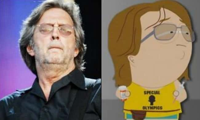 Eric Clapton and Nathan is listed (or ranked) 15 on the list 21 Actual People Who Look Just Like South Park Characters