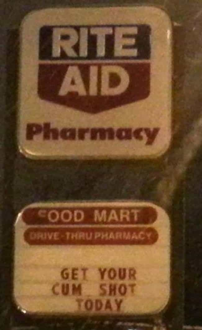 Come Again? is listed (or ranked) 2 on the list Rite Aid Photos That Will Make You Run to CVS