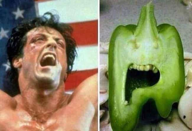 This Rocky Looking Peppe... is listed (or ranked) 4 on the list Foods That Weirdly Look Like Beloved Fictional Characters