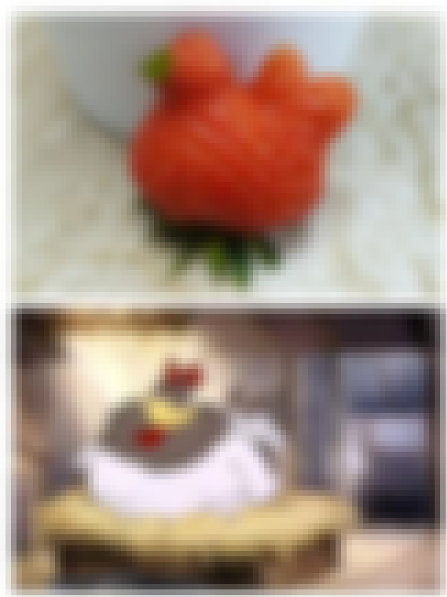 The Strawberry That Looks Like... is listed (or ranked) 2 on the list Foods That Weirdly Look Like Beloved Fictional Characters
