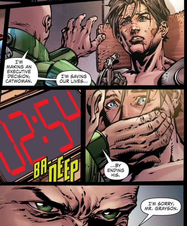 Lex Luthor Smothers Nigh... is listed (or ranked) 2 on the list 8 Violent and Gruesome Moments in Nightwing's Comic History