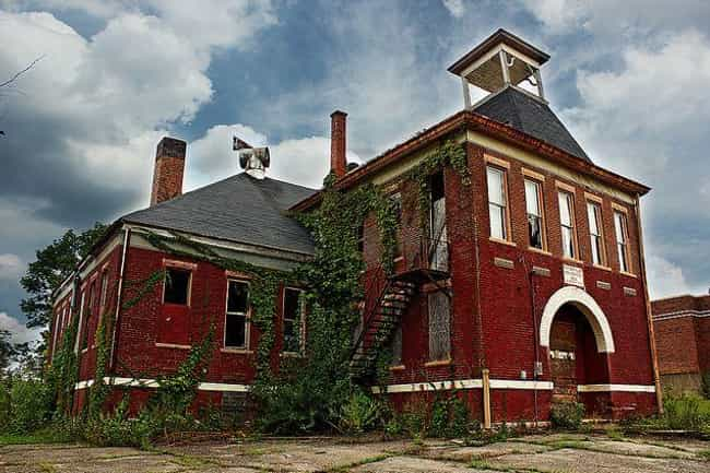 Butlerville High School ... is listed (or ranked) 2 on the list 12 Creepy Abandoned Schools and Classrooms That Are Probably Haunted