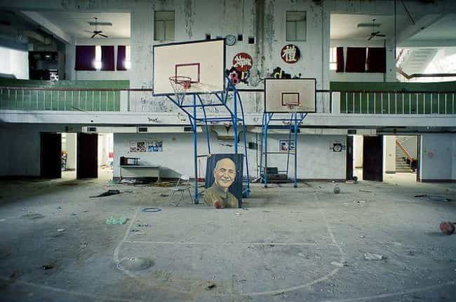 An Abandoned Gym is listed (or ranked) 3 on the list 12 Creepy Abandoned Schools and Classrooms That Are Probably Haunted