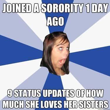Annoying Sorority Facebook Girl