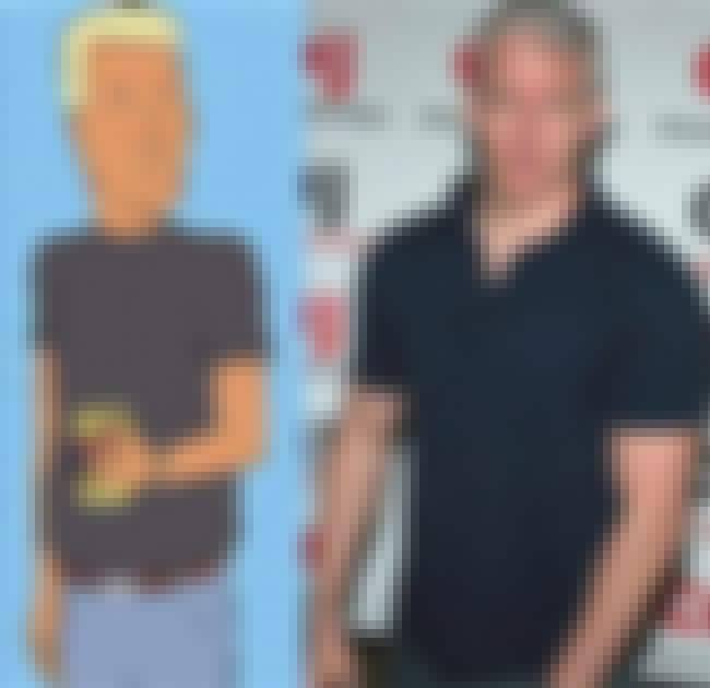 Boomhauer and Anderson Cooper is listed (or ranked) 4 on the list 14 Real People Who Look Exactly Like King of the Hill Characters