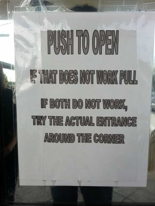 Open and Shut Case is listed (or ranked) 1 on the list Funny Shop Notices That Would Get Your Attention