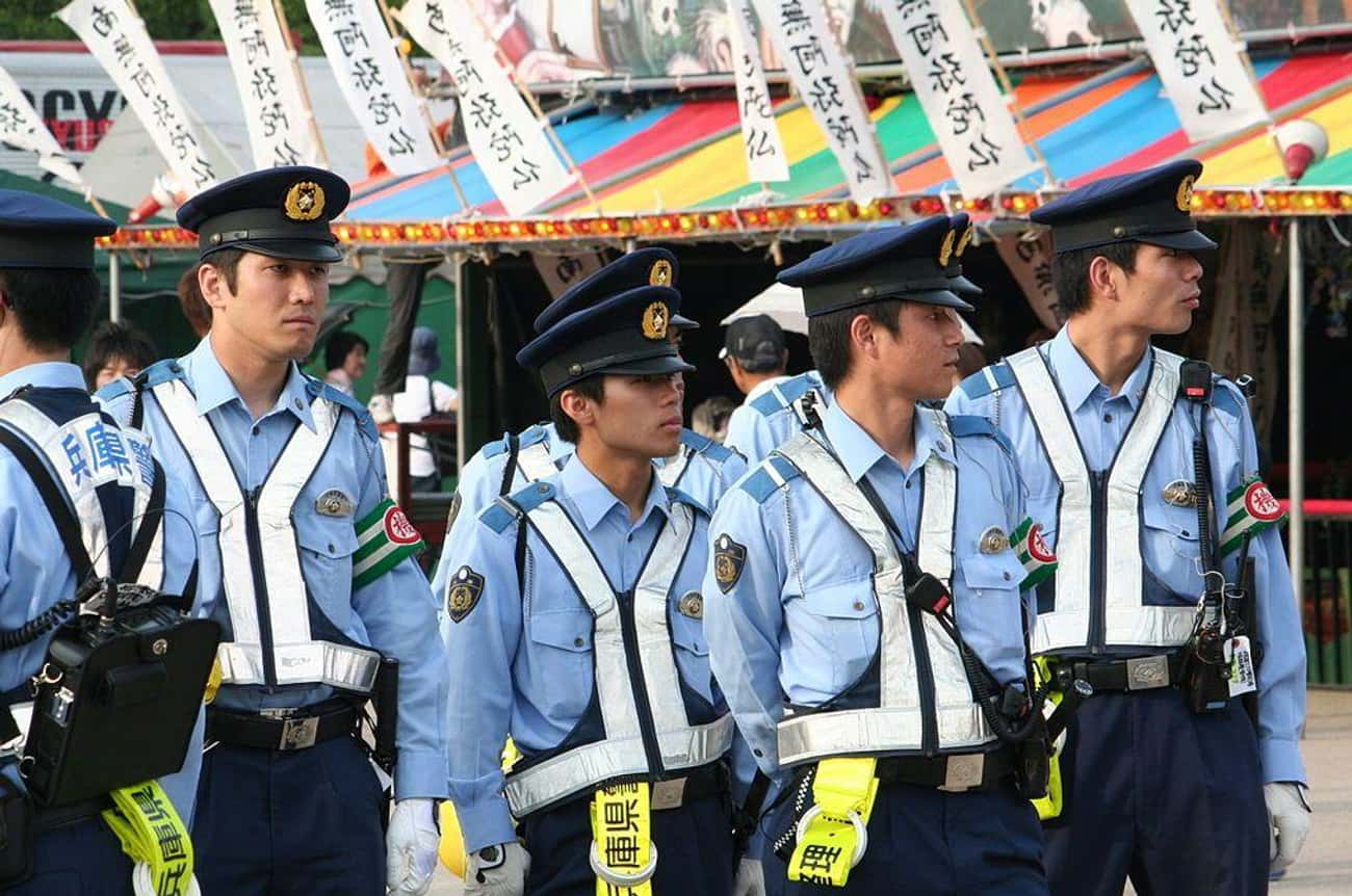 Japanese Police - Himeji, Japa is listed (or ranked) 1 on the list What Police Uniforms Look Like Around the World