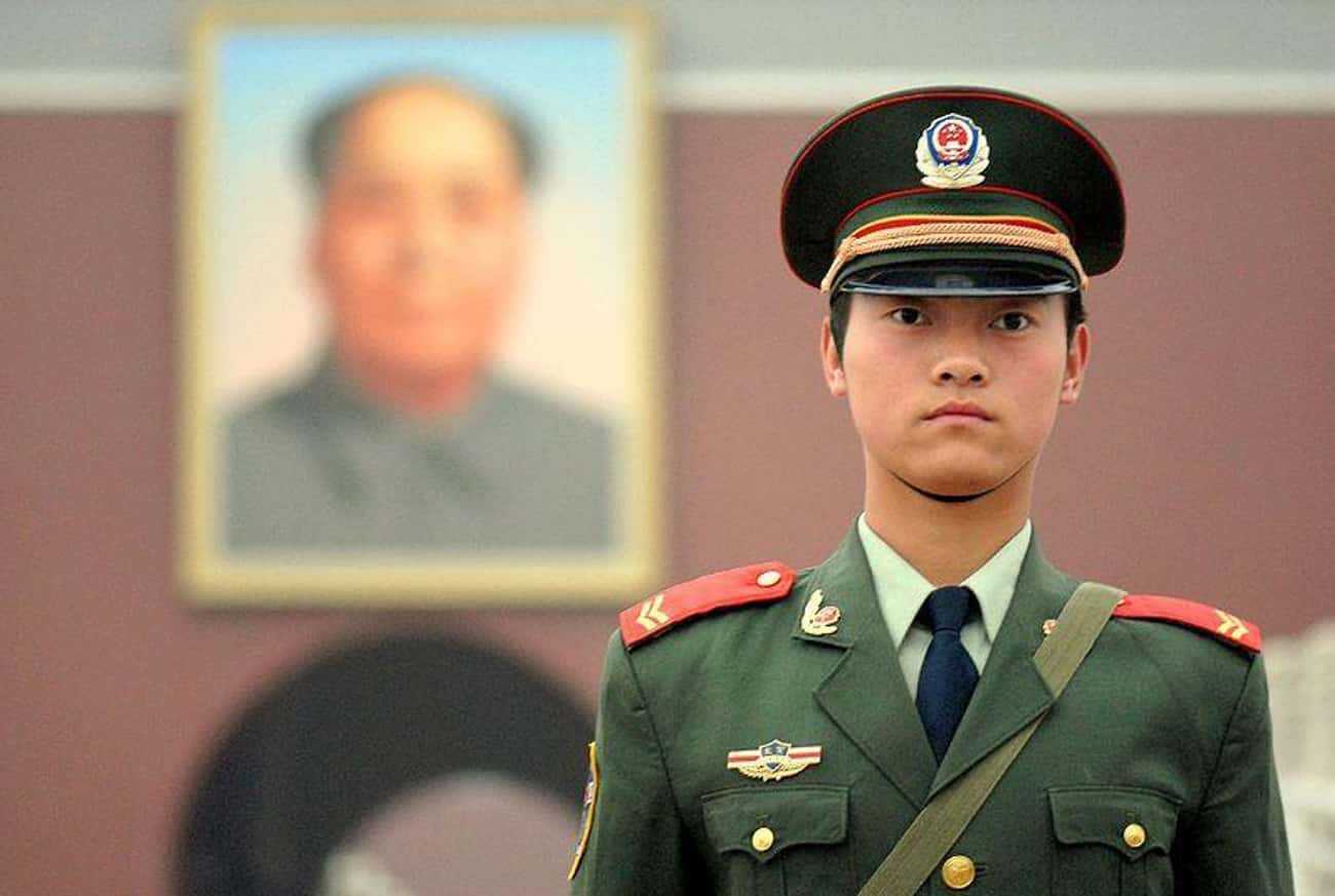 A Private First  Class In The  is listed (or ranked) 4 on the list What Police Uniforms Look Like Around the World