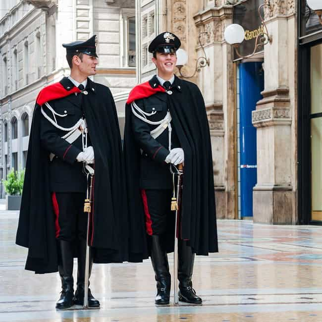 Italian Carabinieri is listed (or ranked) 2 on the list What Police Uniforms Look Like Around the World