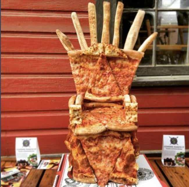 Pizza Throne is listed (or ranked) 4 on the list 22 People Who Made Kickass Thrones Out of Random Stuff