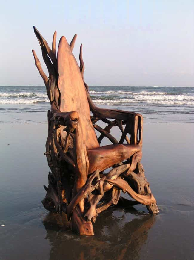 Driftwood Throne is listed (or ranked) 2 on the list 22 People Who Made Kickass Thrones Out of Random Stuff