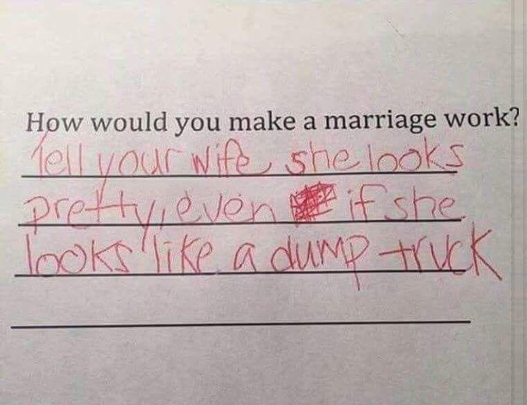 Random Hilarious Test Answers From Kids