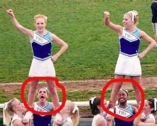 A View From Above is listed (or ranked) 3 on the list The Funniest Cheerleader Faces Ever Caught on Camera