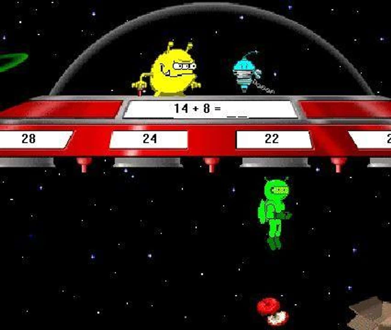 Math Blaster is listed (or ranked) 4 on the list '90s Computer Games You Remember Playing in 3rd Grade
