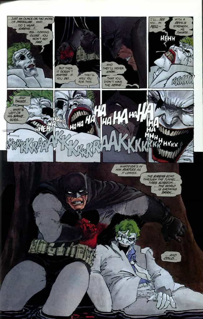 The Joker Breaks His Own Neck is listed (or ranked) 3 on the list The Goriest, Most Brutal Moments in Frank Miller's Graphic Novels