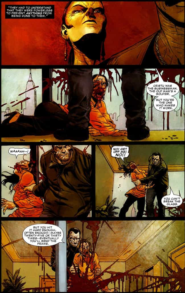 Slaughtering the Leader ... is listed (or ranked) 2 on the list The Most Brutal Things the Punisher Has Ever Done