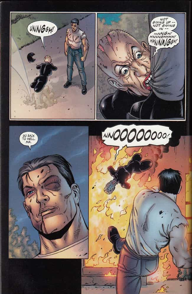 Punting a Lady with No Arms or... is listed (or ranked) 1 on the list The Most Brutal Things the Punisher Has Ever Done