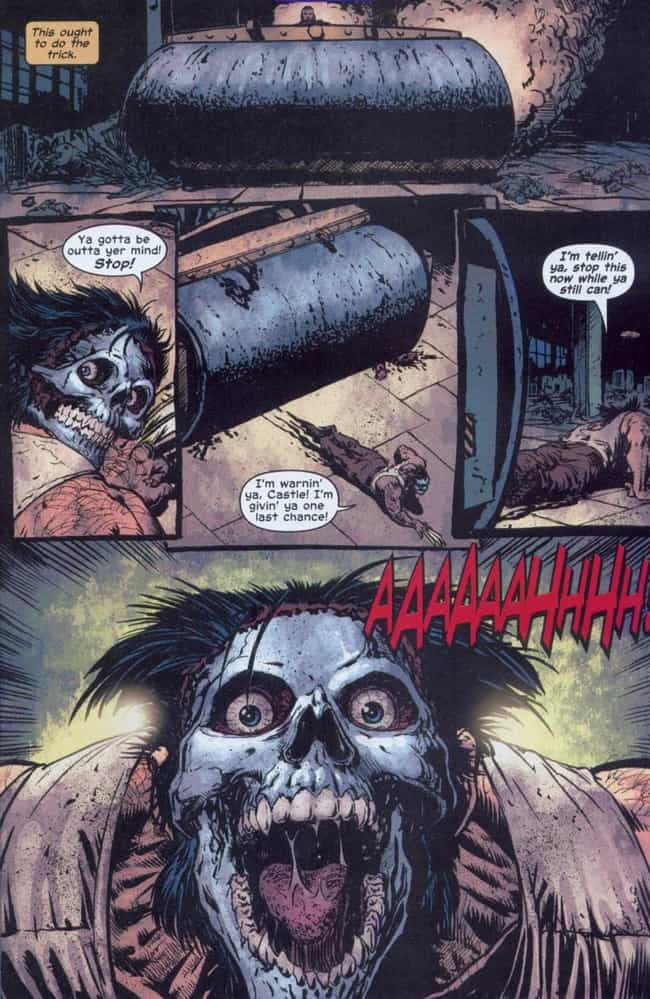 Shooting Wolverine in th... is listed (or ranked) 3 on the list The Most Brutal Things the Punisher Has Ever Done