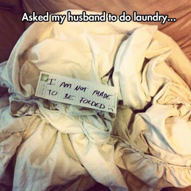 First World Husband Problems is listed (or ranked) 4 on the list 25 Hilarious Laundry Memes That Perfectly Describe the Struggle