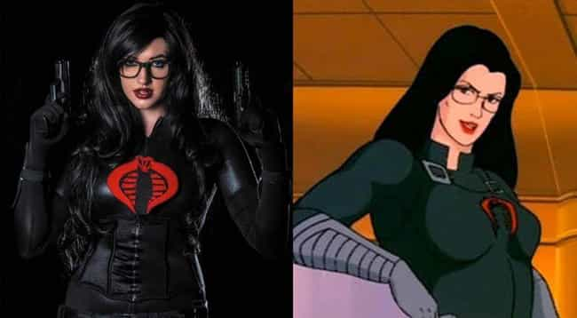 Baroness from G.I. Joe is listed (or ranked) 4 on the list 20 Of Your Favorite Cartoon Babes Brought To Life