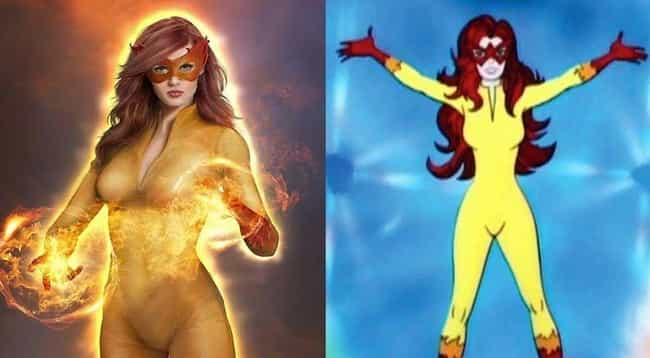 Firestar from Spider-Man is listed (or ranked) 3 on the list 20 Of Your Favorite Cartoon Babes Brought To Life