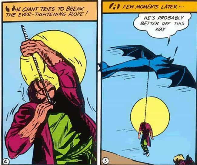 Batman Swings a Murdered Corps... is listed (or ranked) 2 on the list 12 Really Dark Moments Where Batman Went Completely Insane in the Comics