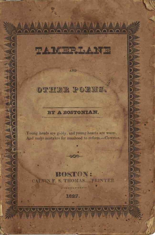 Tamerlane Is Now the Hol... is listed (or ranked) 4 on the list 15 Bizarre Facts About the Tragic Life of Edgar Allan Poe