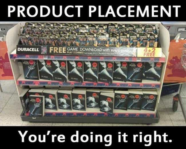 50 Shades of Product Placement is listed (or ranked) 4 on the list 13 Examples of Genius Product Placement in Retail Stores