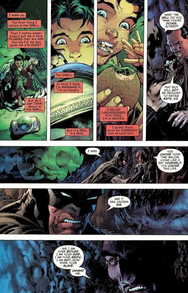Batman Makes Robin Eat Rats is listed (or ranked) 1 on the list 12 Really Dark Moments Where Batman Went Completely Insane in the Comics