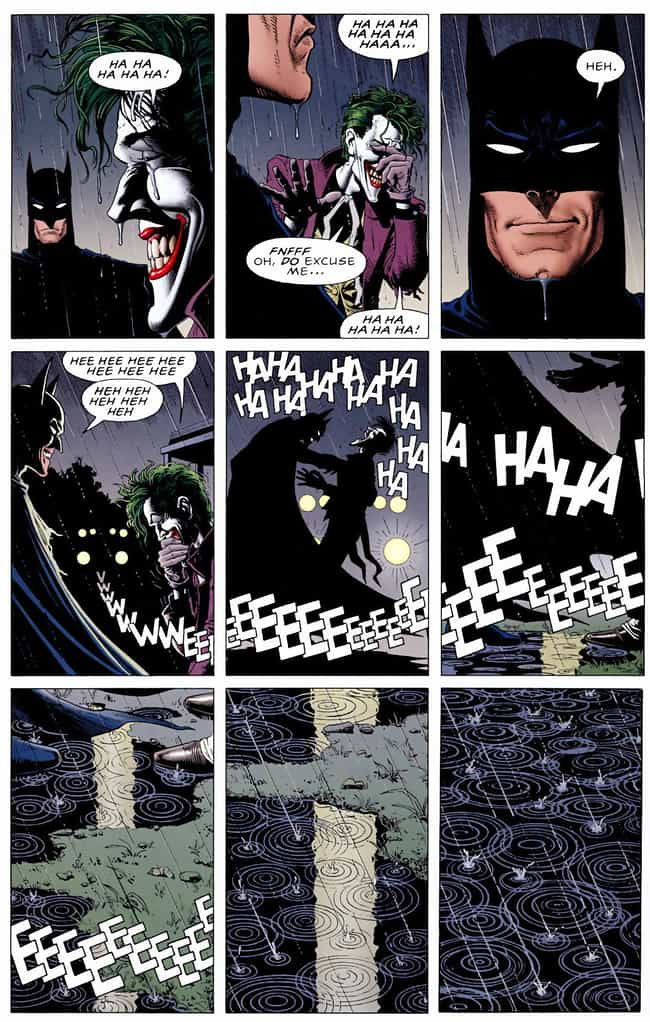 Batman Laughs Alongside the Jo... is listed (or ranked) 4 on the list 12 Really Dark Moments Where Batman Went Completely Insane in the Comics