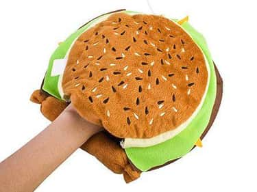 The Hamburger Hand Warmer /Mou is listed (or ranked) 5 on the list Funny Mouse Pads to Keep You Entertained at Work