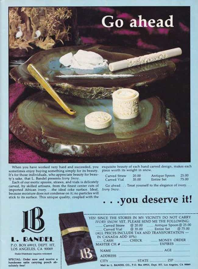 You Deserve It! is listed (or ranked) 2 on the list 31 Vintage Cocaine Ads That Prove the '70s and '80s Were a Different Time