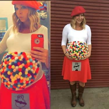 Gumball Anyone? is listed (or ranked) 1 on the list 23 Funny Halloween Costumes for Pregnant Women That Are Super Clever