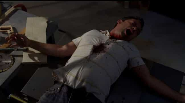 Man Lands on Table Saw is listed (or ranked) 4 on the list The 15 Goriest Moments on Supernatural