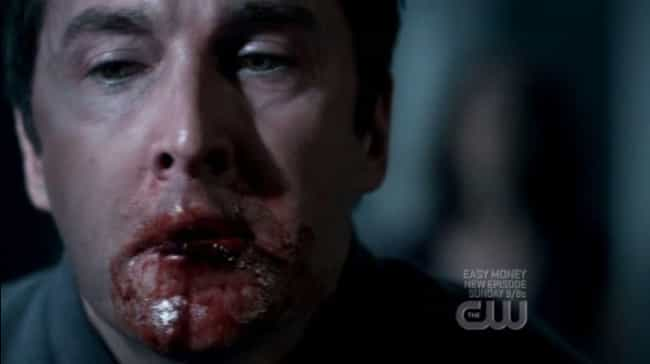 Rougarou Eats Hunter Alive is listed (or ranked) 3 on the list The 15 Goriest Moments on Supernatural
