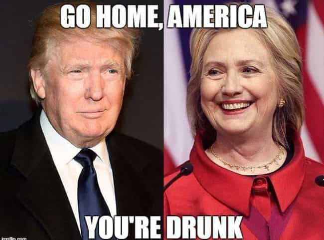 We're All Going to Get &... is listed (or ranked) 2 on the list Trump vs. Hillary Memes to Get You Through Your Post-Debate Hangover