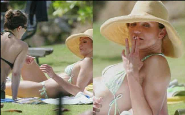 Cameron Diaz and Drew Barrymor... is listed (or ranked) 3 on the list 13 Lit Pictures of Celebrities Smoking Weed Together