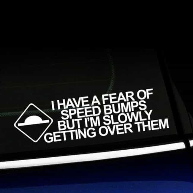 Just A Little Bump In The Road is listed (or ranked) 2 on the list 26 Punny Bumper Stickers That Honestly Make The Road A Better Place