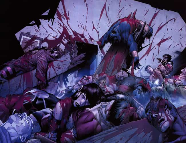 All of the X-Men is listed (or ranked) 1 on the list 10 Times Wolverine Went Berserk and Killed Innocent People