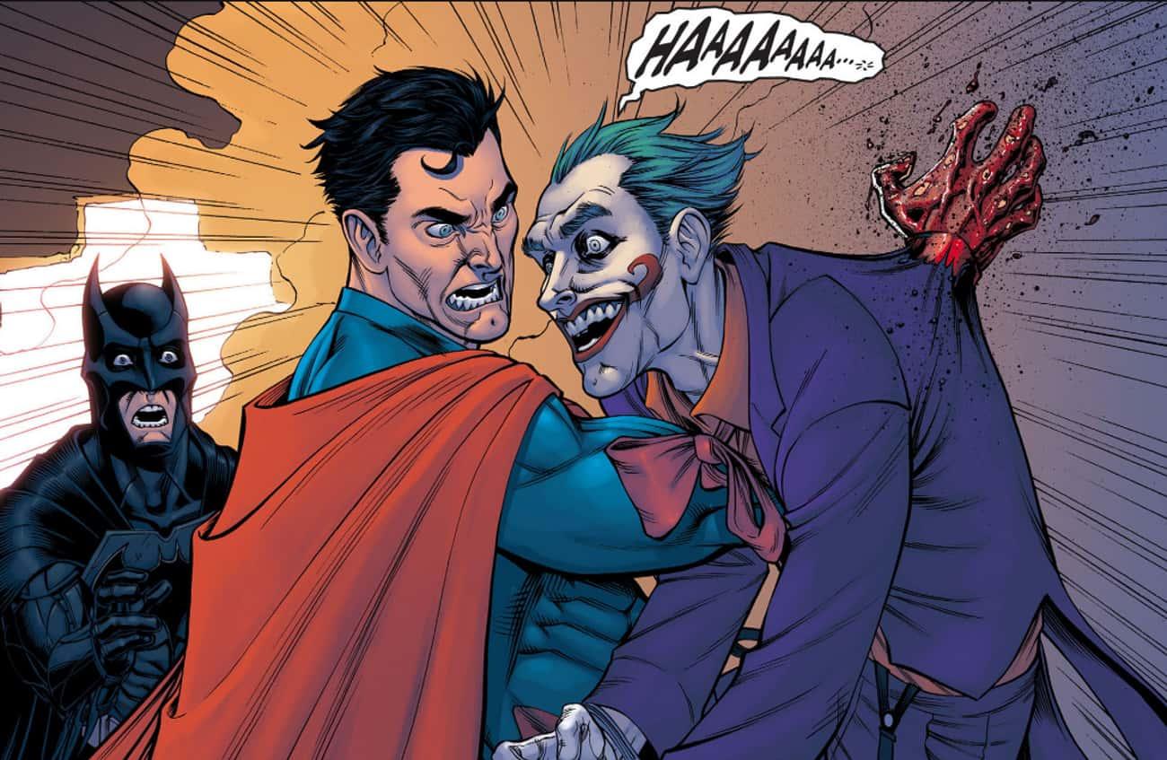 Superman Rams His Fist Through the Joker