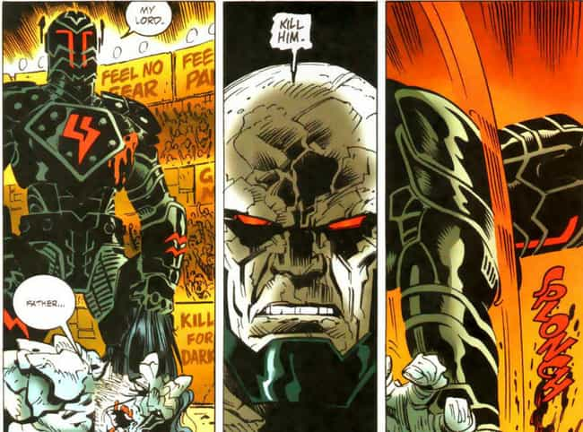 He Murders Darkseid's So... is listed (or ranked) 2 on the list 12 Times Superman Went Completely Insane And Brutally Killed People