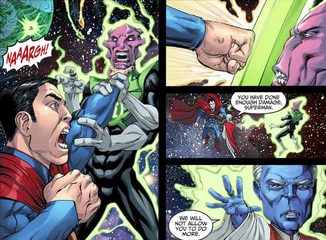 He Strangles Salaak is listed (or ranked) 3 on the list 12 Times Superman Went Completely Insane And Brutally Killed People
