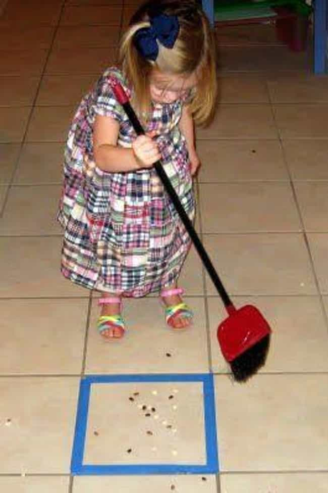 Forget Chores and Play Sweep t... is listed (or ranked) 3 on the list Fun Parenting Hacks All New Dads Will Appreciate
