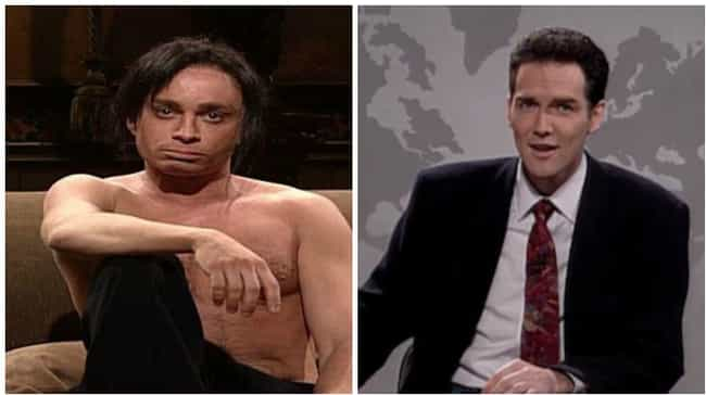 Chris Kattan vs. Norm Ma... is listed (or ranked) 3 on the list 15 Fights That Broke Out Behind the Scenes of Saturday Night Live