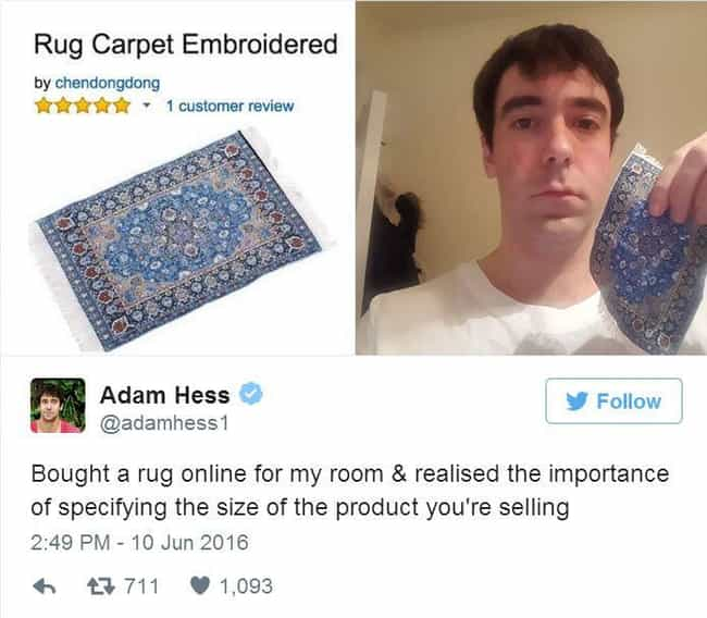 Taken for a (Carpet) Rid... is listed (or ranked) 4 on the list 18 eBay Grifts That Are So Genius You Have To Give Them Credit